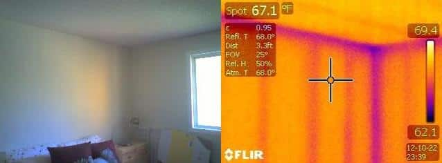 Thermographic Wall Inspection